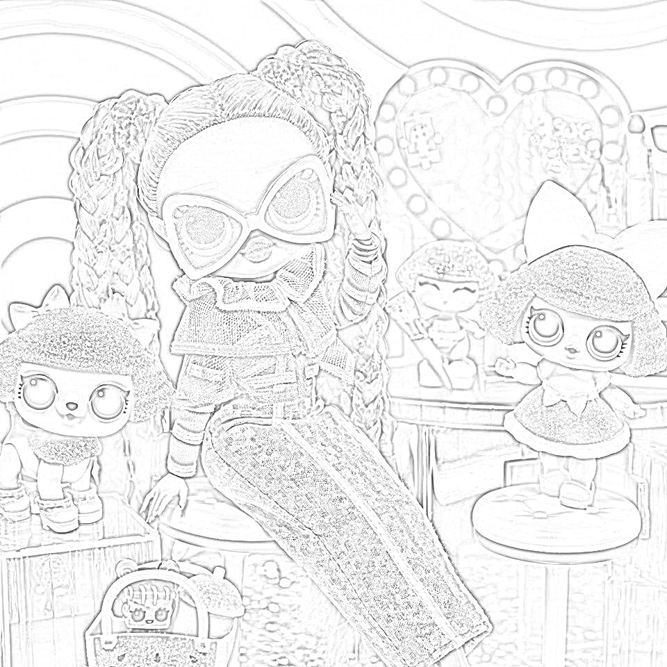 Dazzle Lol Doll Coloring Page