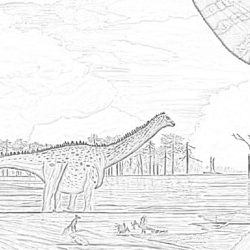Tapuiasaurus - Coloring page