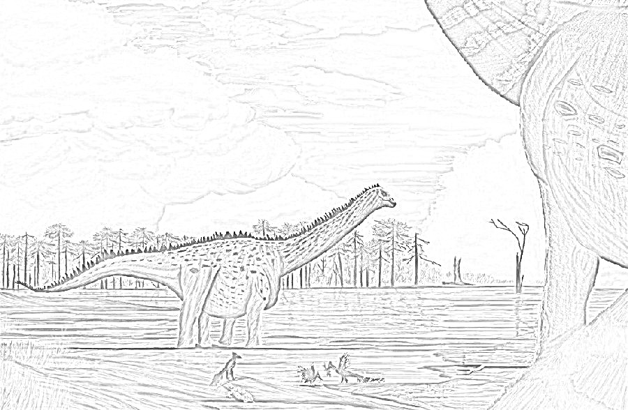 Tapuiasaurus Coloring Page