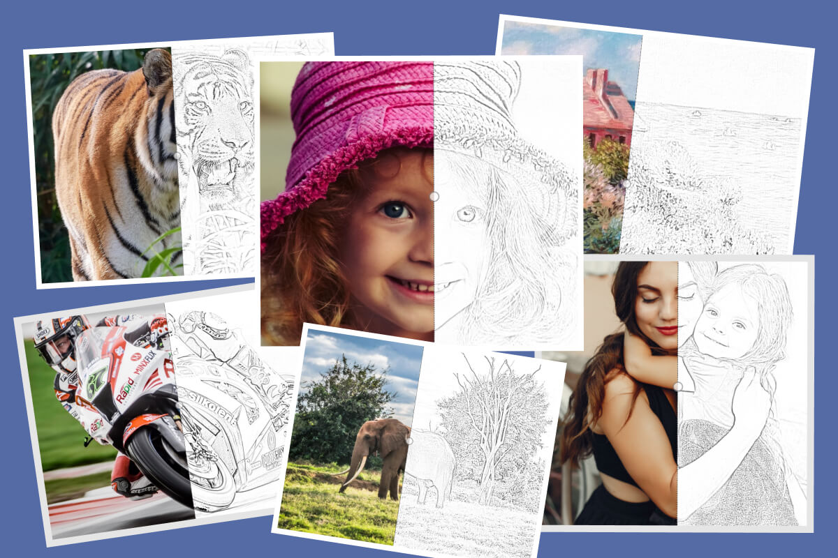 photoshop can turn your own pic into a coloring page for your kids ... | 800x1200