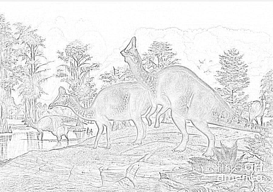 Amurosaurus Coloring Page