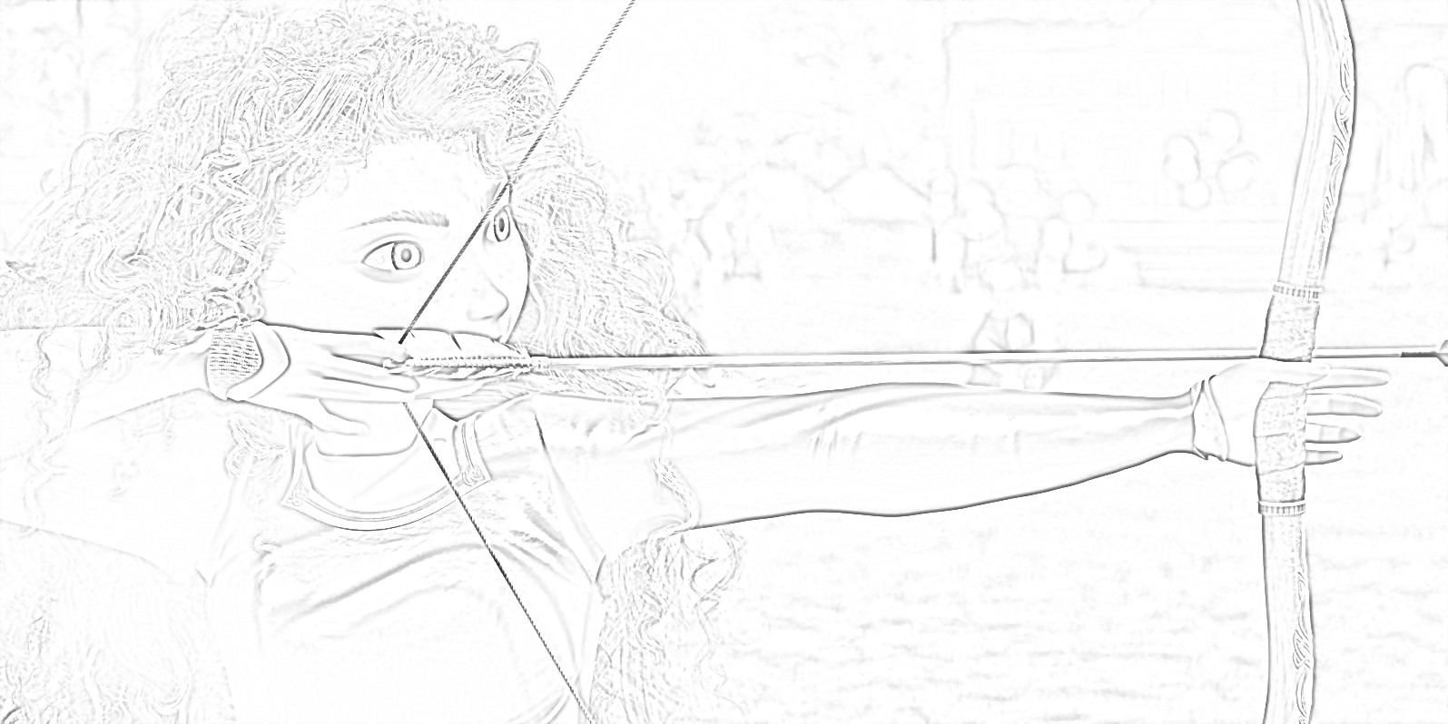 Free Princess Merida (Brave) Coloring Page
