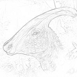 Parasaurolophus - Coloring page