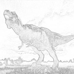 T-Rex - Coloring page