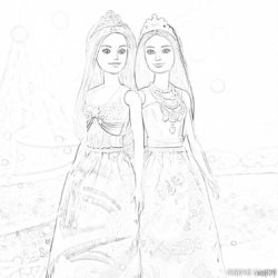 Barbie - Coloring page