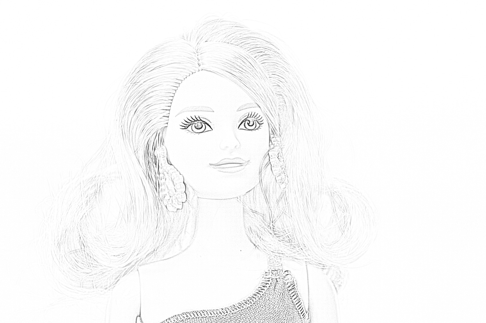 Free Barbie Coloring Page