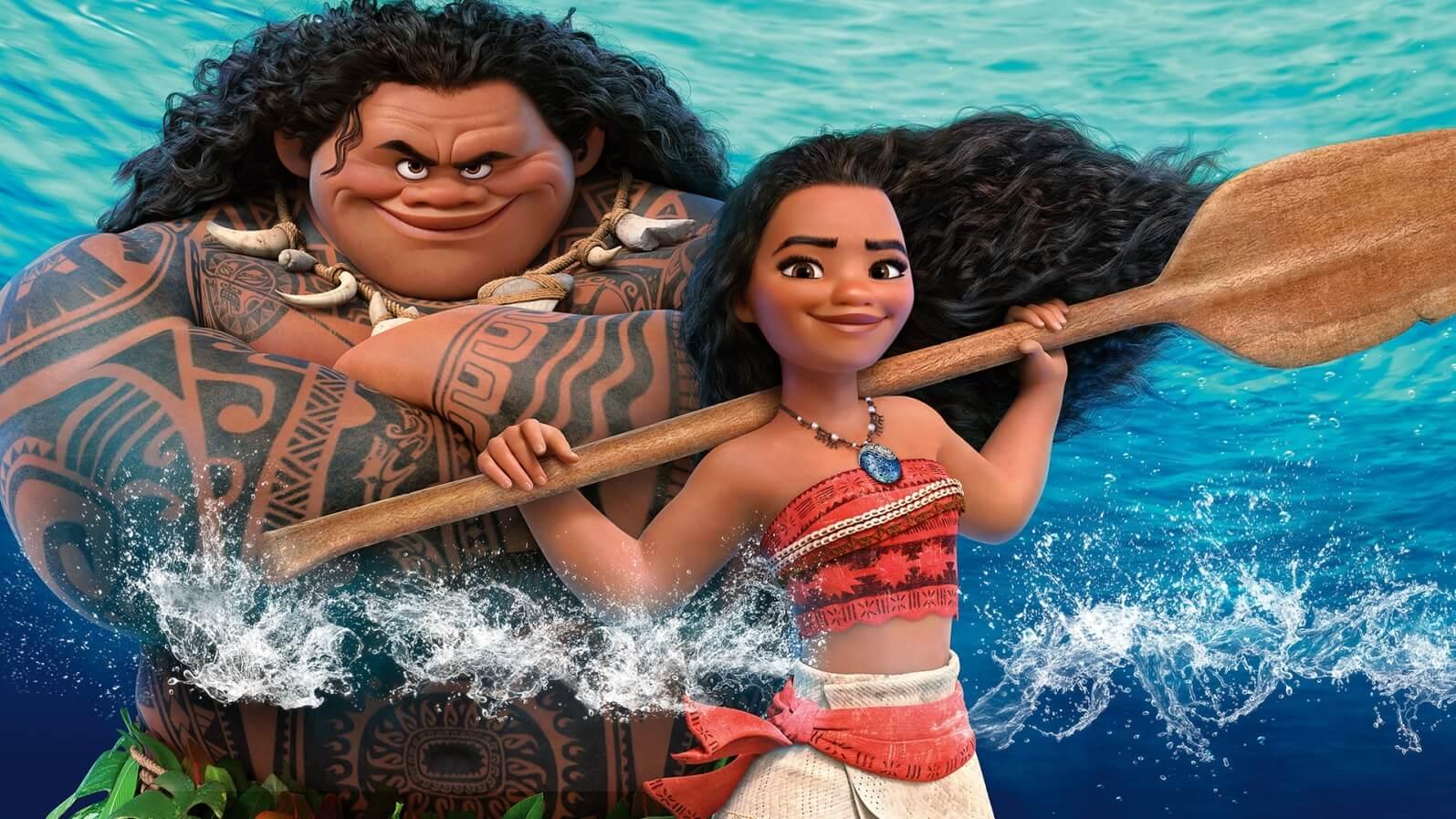 Moana and Maui - Original image