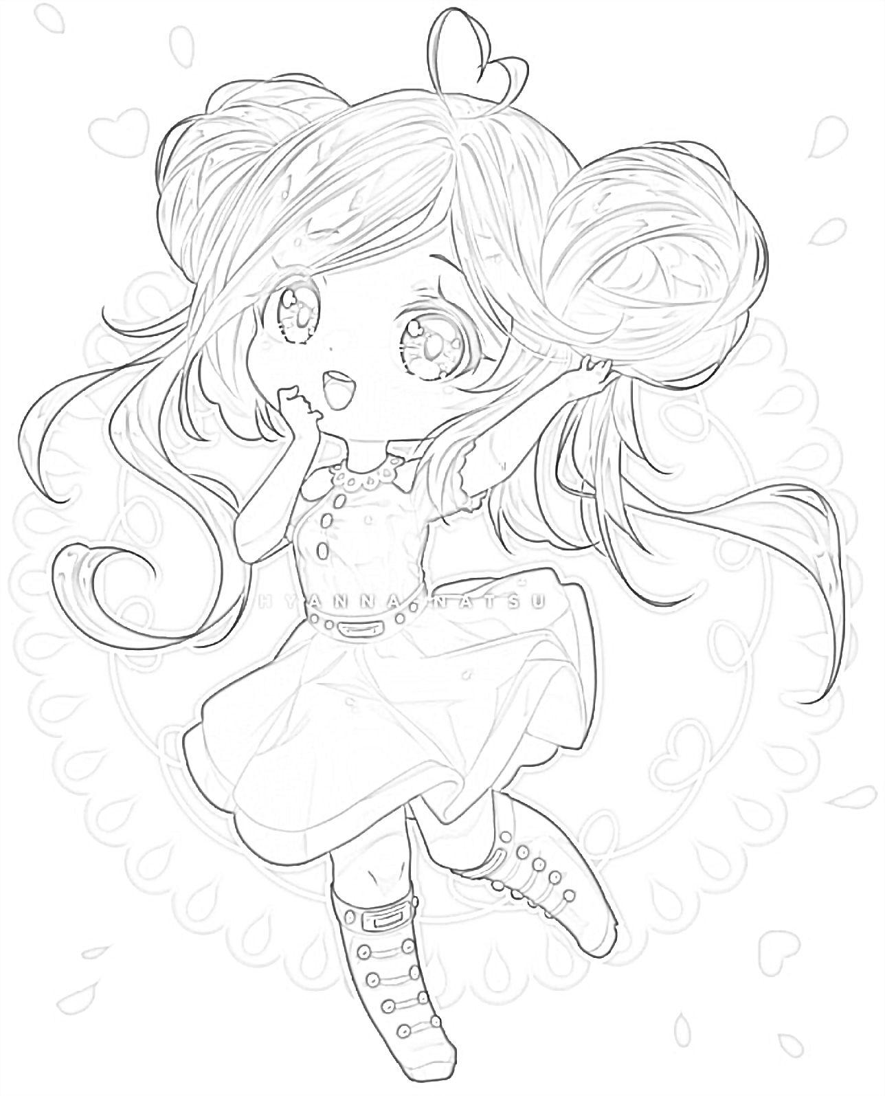 Anime Chibi Coloring Page