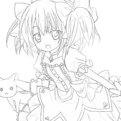 Kawaii Anime Girl - Coloring page
